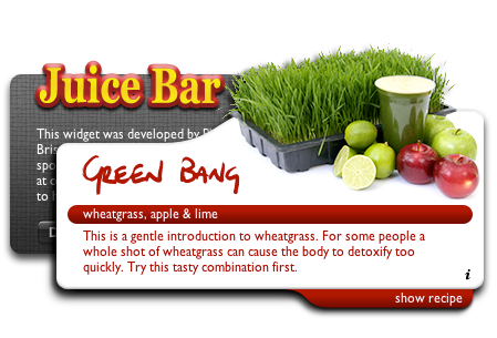 juice bar widget screenshot